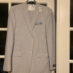 Seer Sucker pin-striped Mens Suit